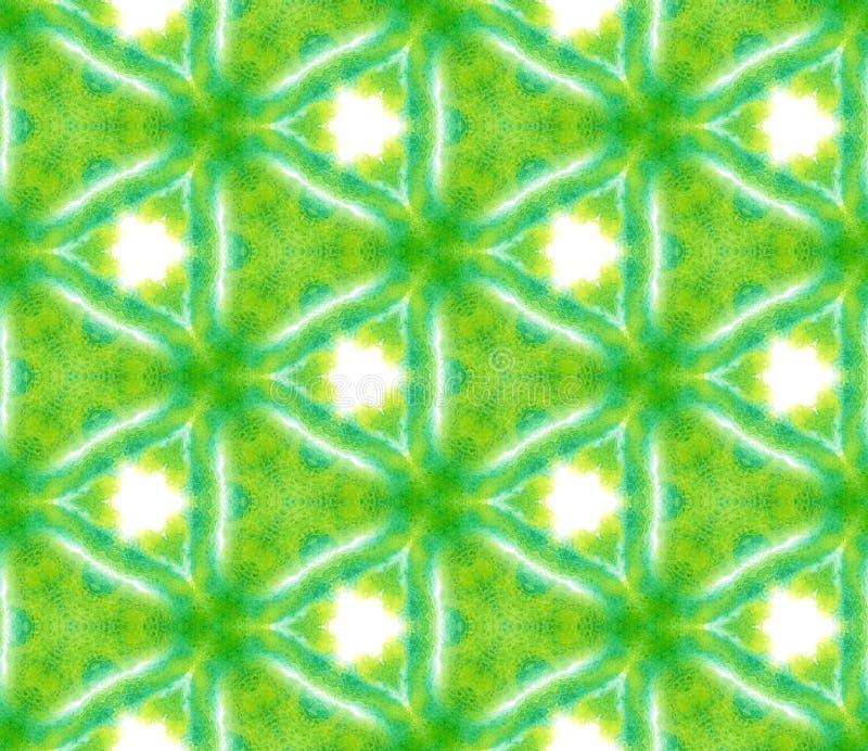 Vlekken, Ikat, Bandkleurstof, Batik Naadloos Patroon vector illustratie