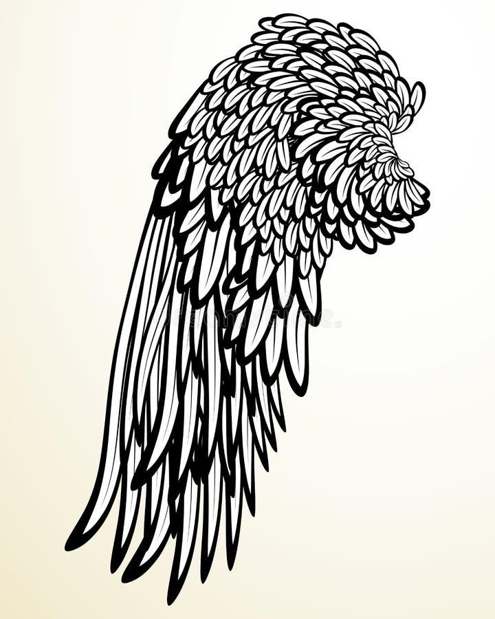 Vleugel vector illustratie