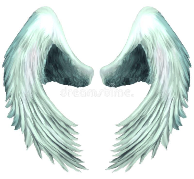 Vleugels 1 van de Engel van de serafijn royalty-vrije illustratie