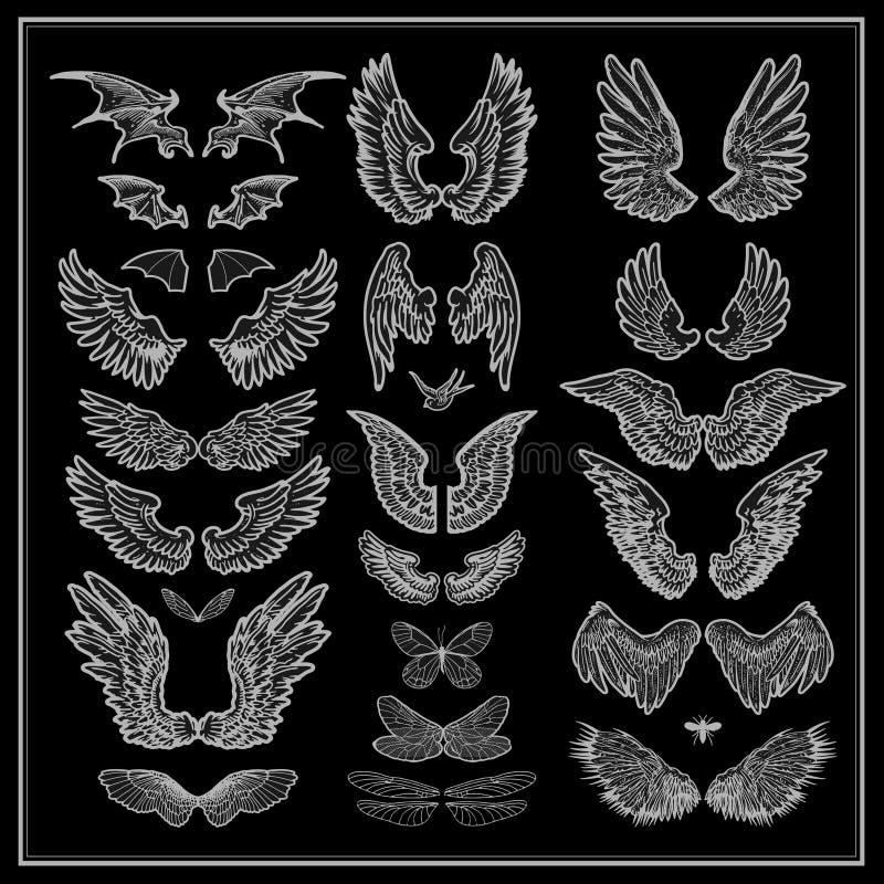 Vleugels royalty-vrije illustratie
