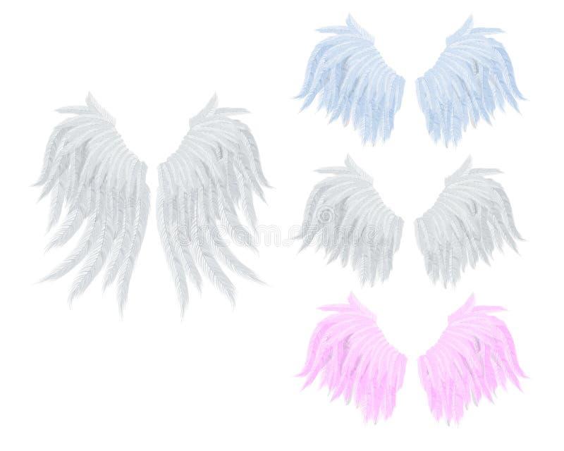Vleugels met veer vector illustratie