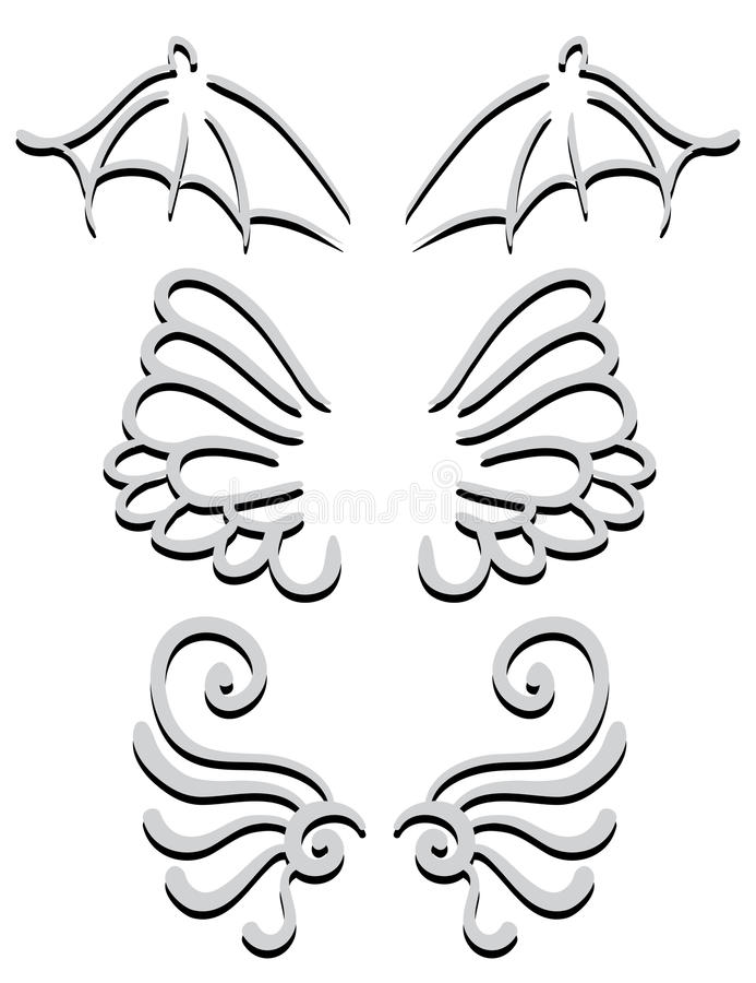 vleugels reeks royalty-vrije illustratie