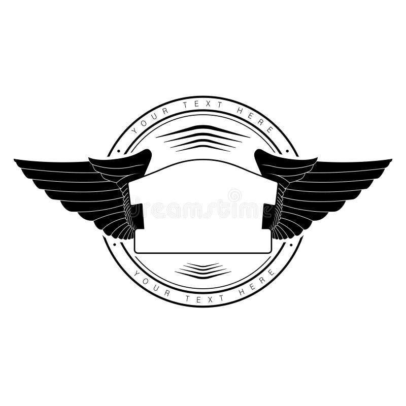 Vleugels van adelaar vector illustratie