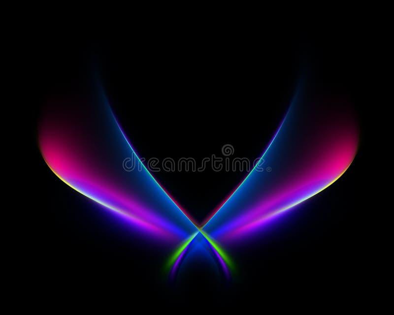 Vleugels van hoop en waanzin vector illustratie