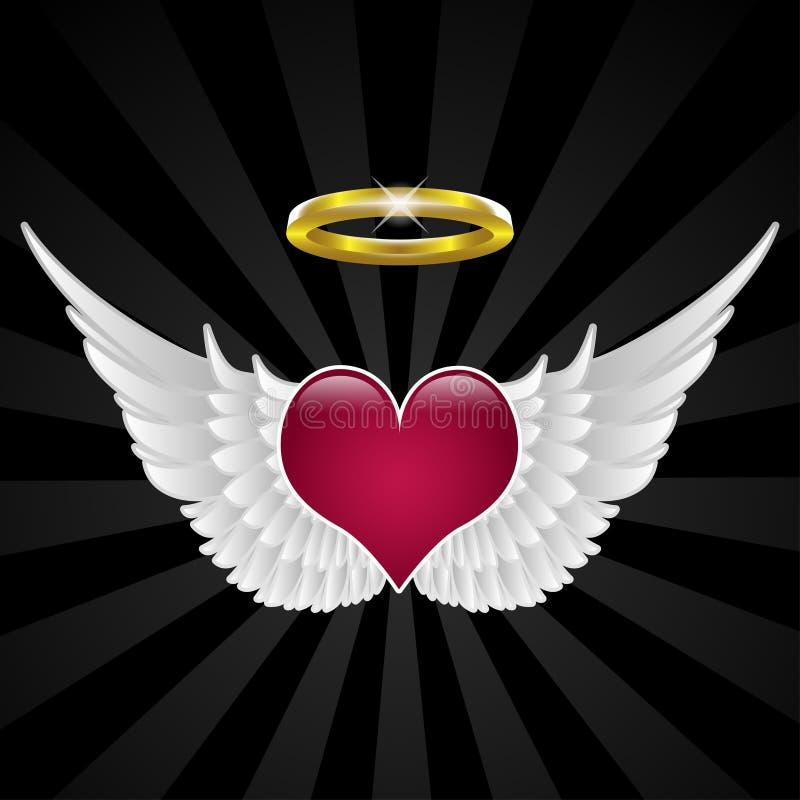 Vleugels van liefde royalty-vrije illustratie