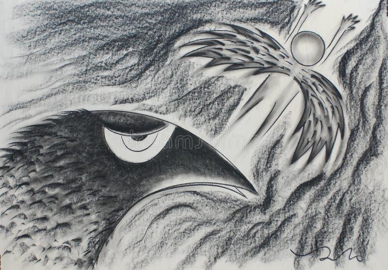 Vleugels van vogel royalty-vrije stock fotografie