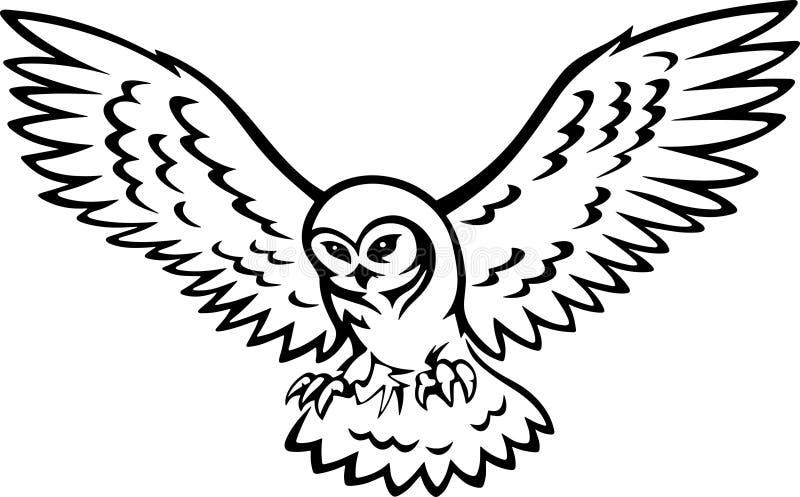 Vleugelstatoo stock illustratie