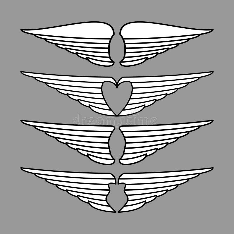 Vleugelsvector royalty-vrije stock foto's