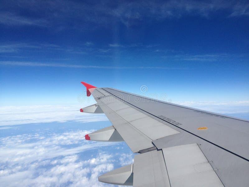 Vlieg op vliegtuig royalty-vrije stock afbeelding