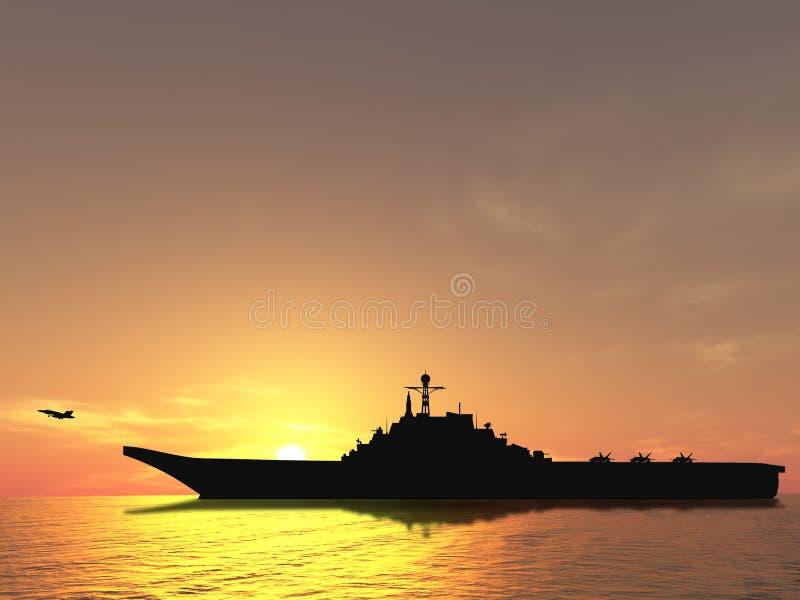Vliegdekschip stock afbeeldingen