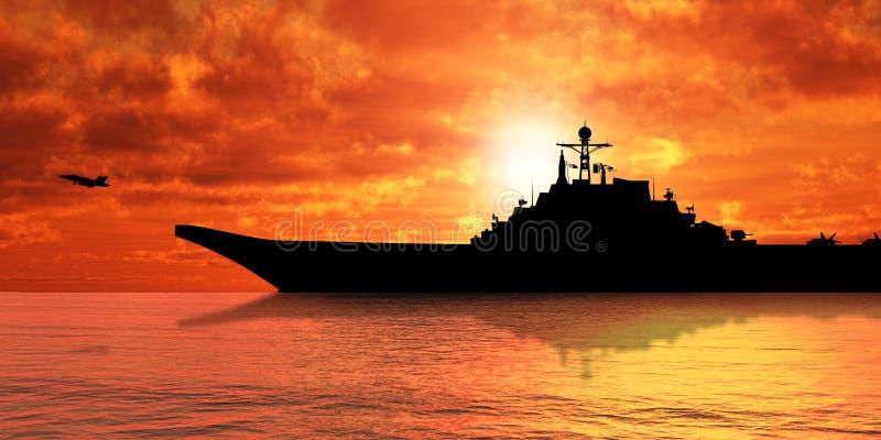 Vliegdekschip stock foto