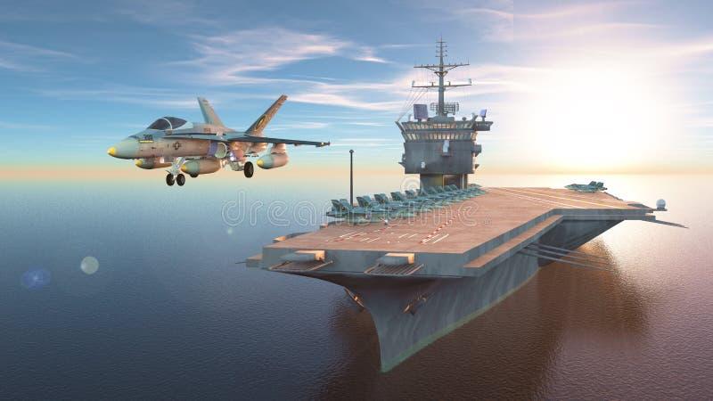 Vliegdekschip royalty-vrije illustratie