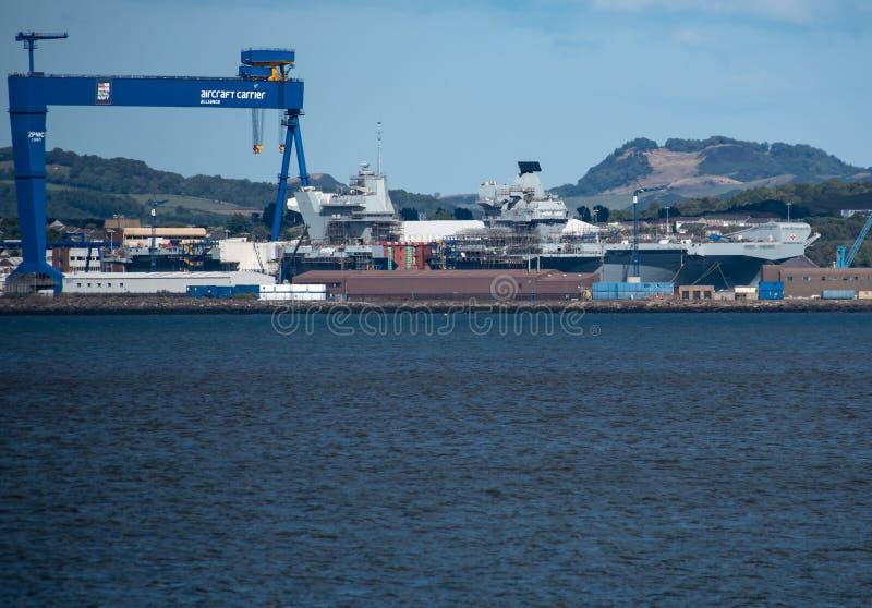 Vliegdekschipprins van Wales stock afbeeldingen
