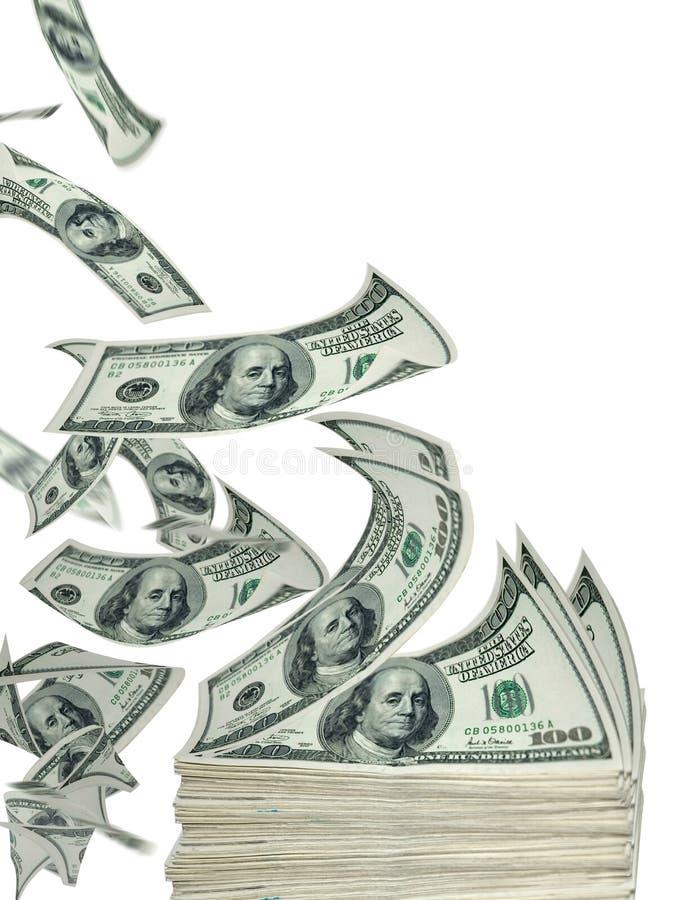 Vliegend contant geld royalty-vrije stock foto