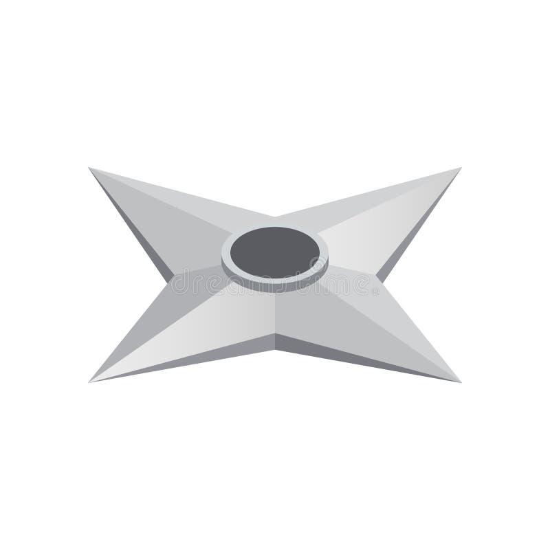 Vliegend die mes van staal isometrisch 3d pictogram wordt gemaakt stock illustratie