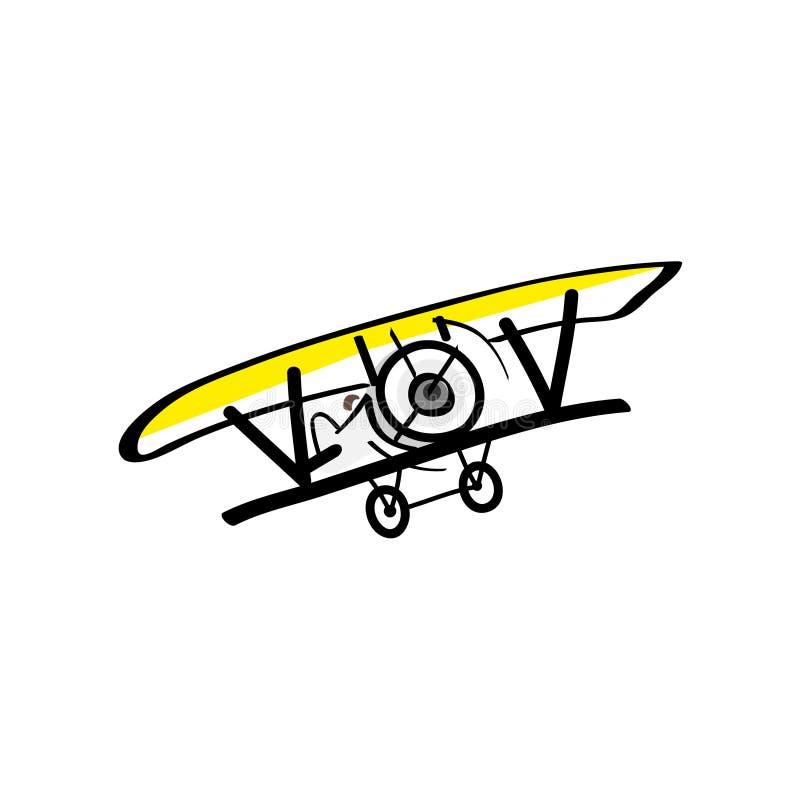 Vliegend die vliegtuig op witte achtergrond wordt ge?soleerd vector illustratie