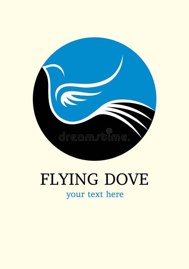 Vliegend Duifembleem royalty-vrije illustratie