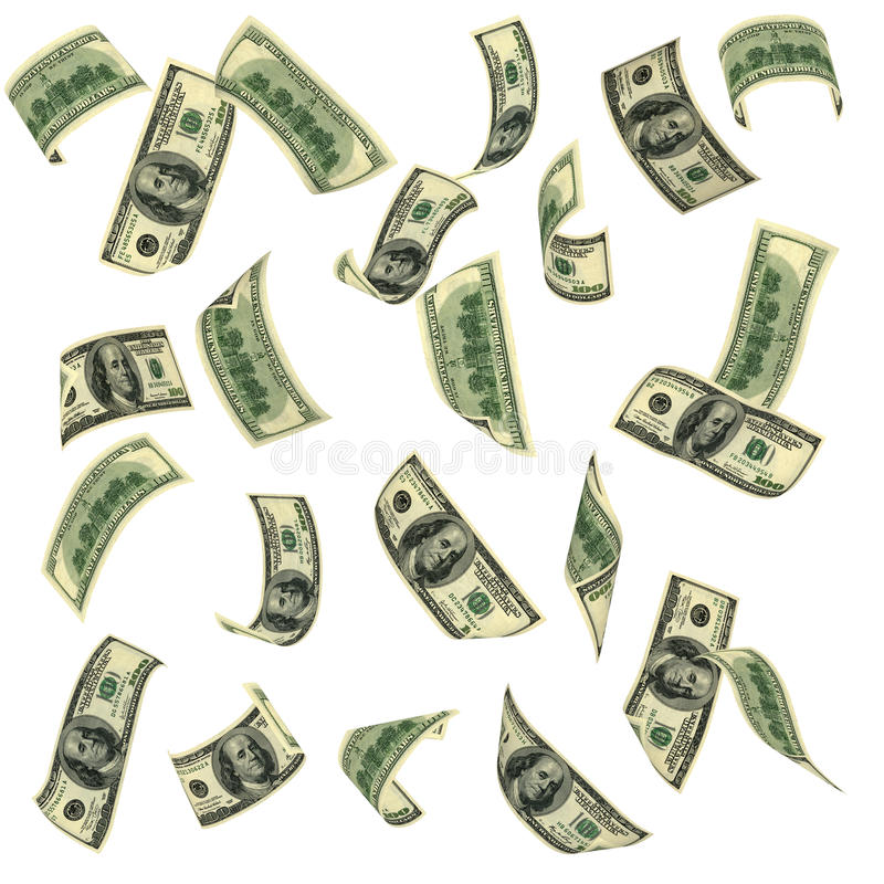 Vliegend geld royalty-vrije stock afbeeldingen