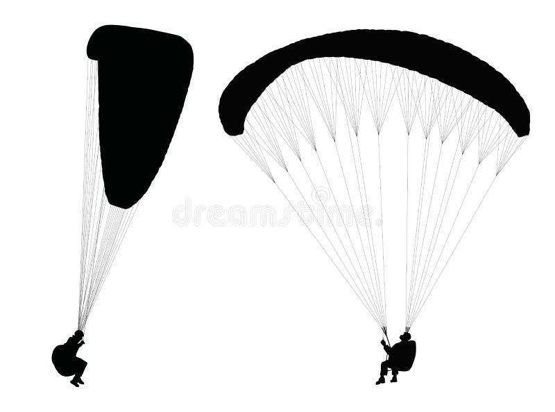 Vliegend glijscherm royalty-vrije illustratie