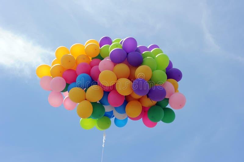 Vliegende ballon royalty-vrije stock foto