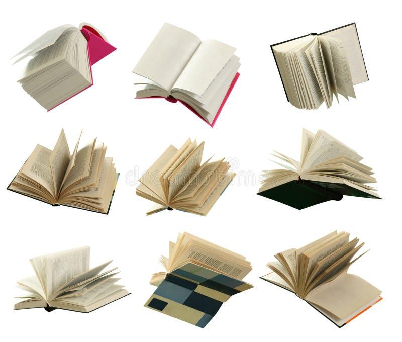 Vliegende boeken stock afbeelding