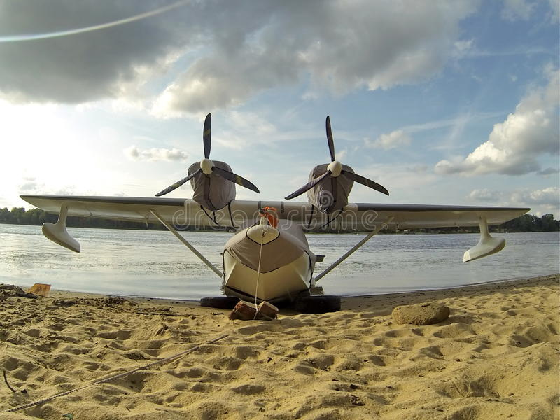 Vliegende Boot royalty-vrije stock foto