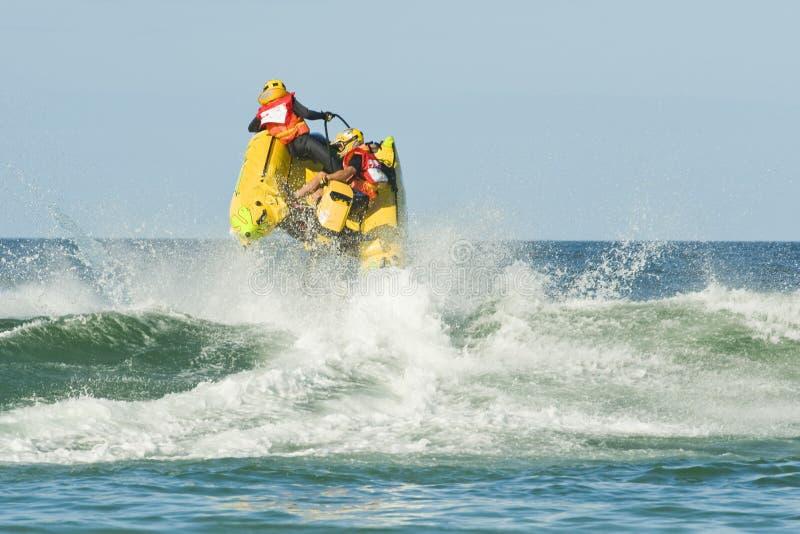 Vliegende Boot Rcing stock foto