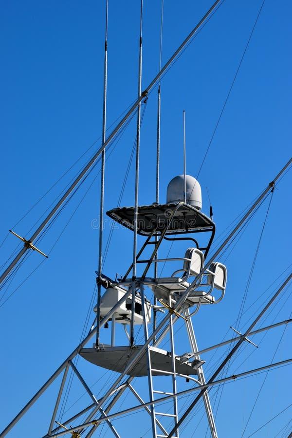 Vliegende brug op boot royalty-vrije stock afbeeldingen