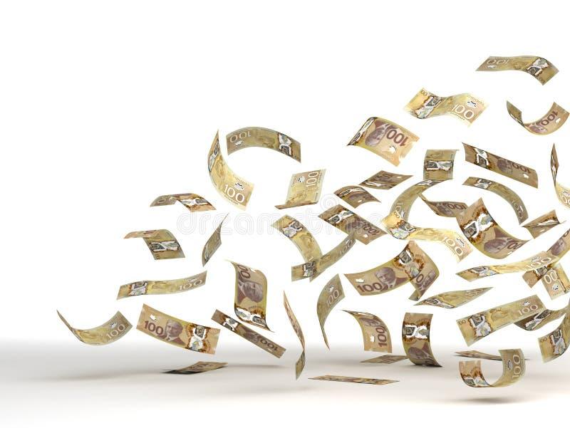 Vliegende Canadese Dollar vector illustratie