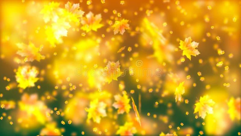 Vliegende de herfstbladeren abstracte achtergrond vector illustratie