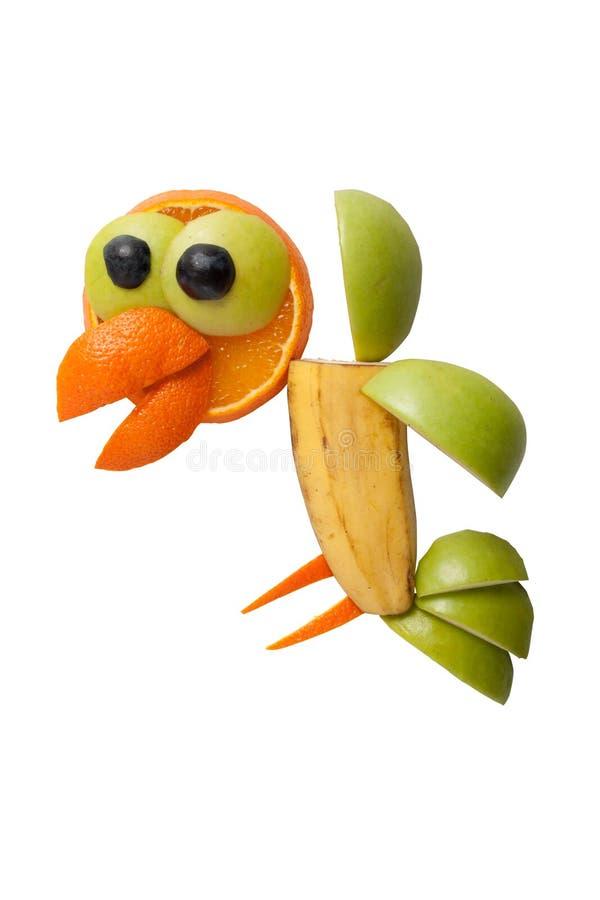 Vliegende die kraai van vruchten wordt gemaakt royalty-vrije stock foto's