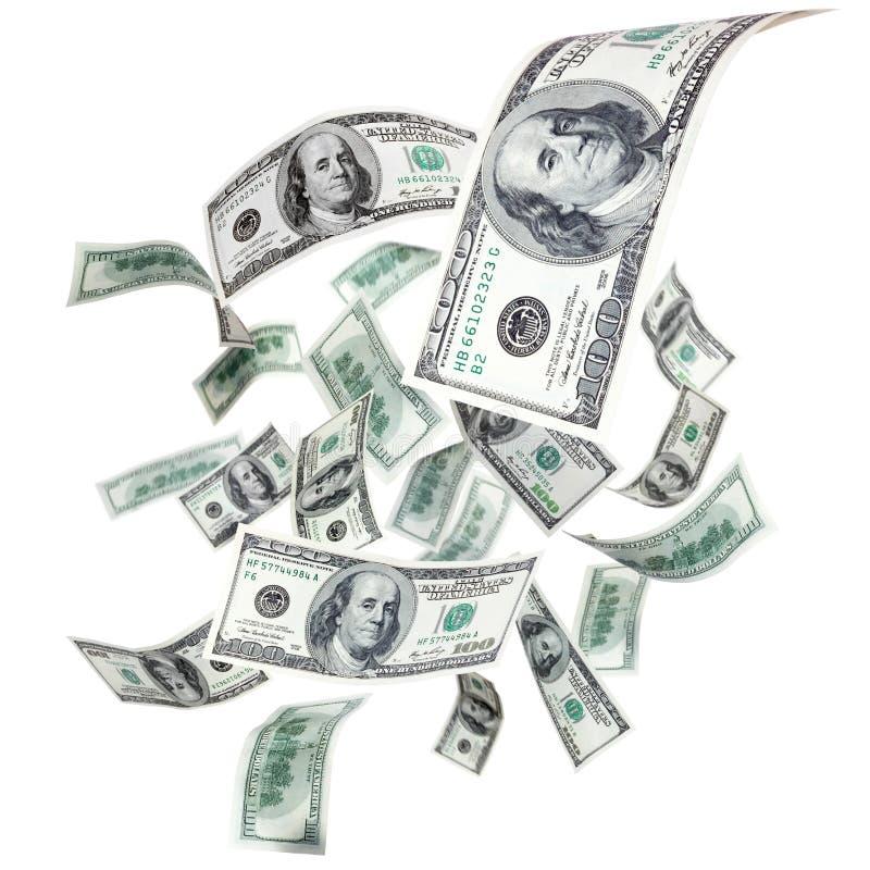 Vliegende dollars stock afbeeldingen