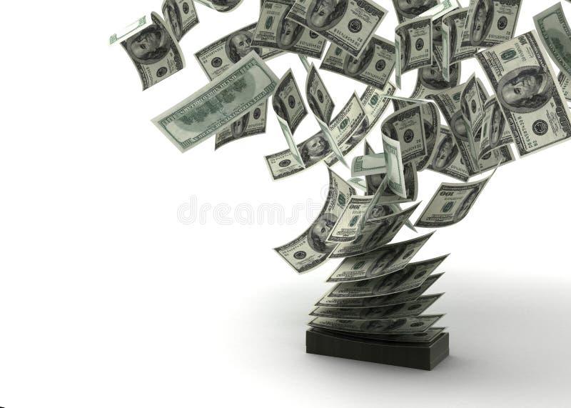 Vliegende Dollars royalty-vrije illustratie