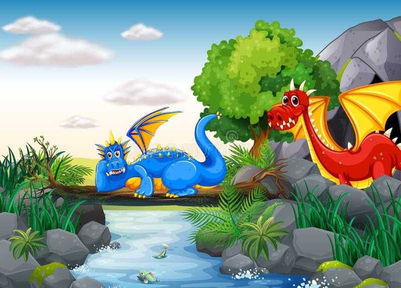 Vliegende Draken vector illustratie