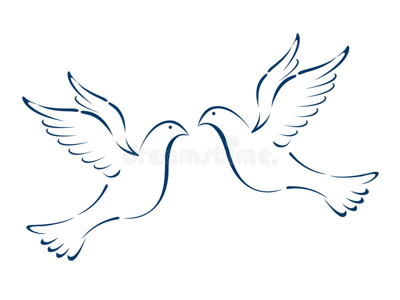 Vliegende duiven vector illustratie