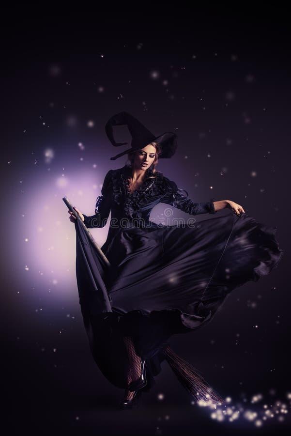 Vliegende heks royalty-vrije stock foto