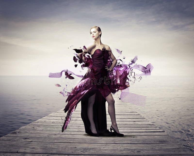Vliegende kleding royalty-vrije stock afbeelding