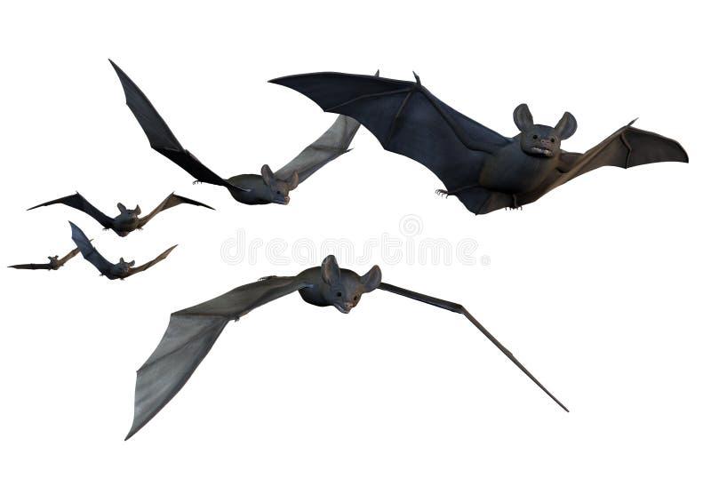 Vliegende Knuppels - omvat het knippen weg stock illustratie