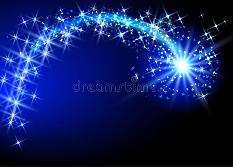 Vliegende komeet royalty-vrije illustratie