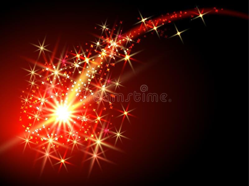 Vliegende komeet vector illustratie