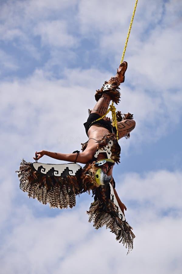 Vliegende mens, Mexicaans Ritueel royalty-vrije stock fotografie