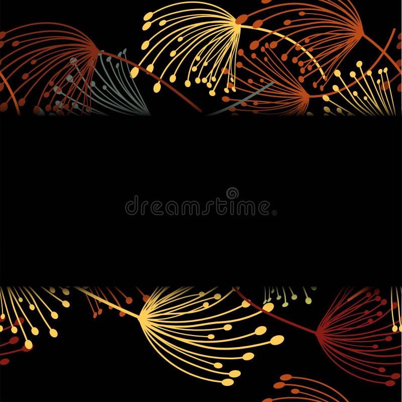 Vliegende paardebloem Vector bloemenontwerpkaart Elementen decoratieve bloemen vector illustratie