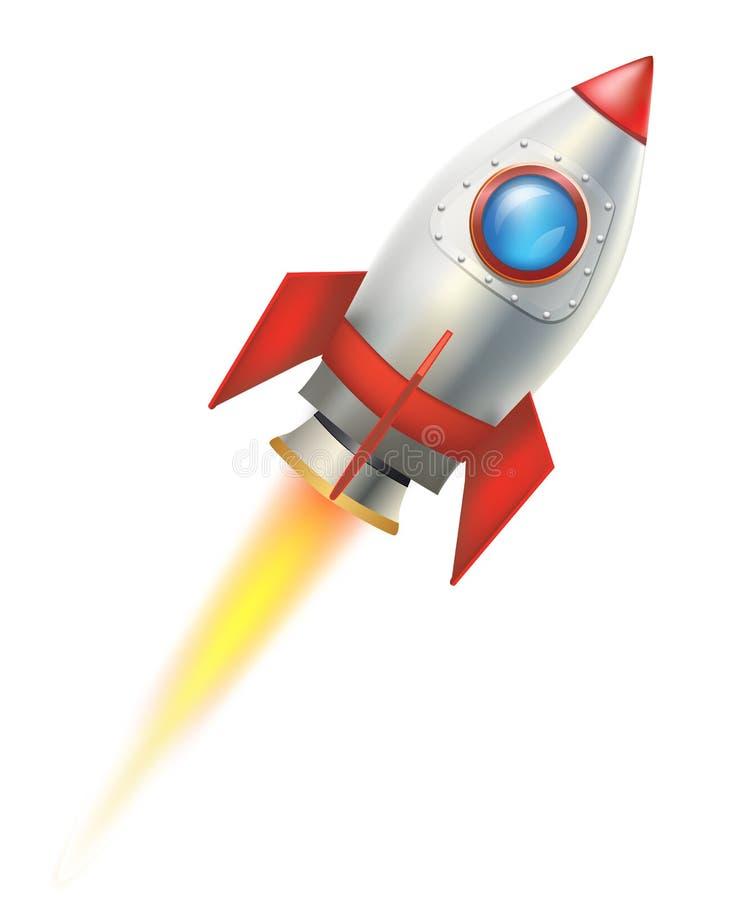 Vliegende raket stock illustratie