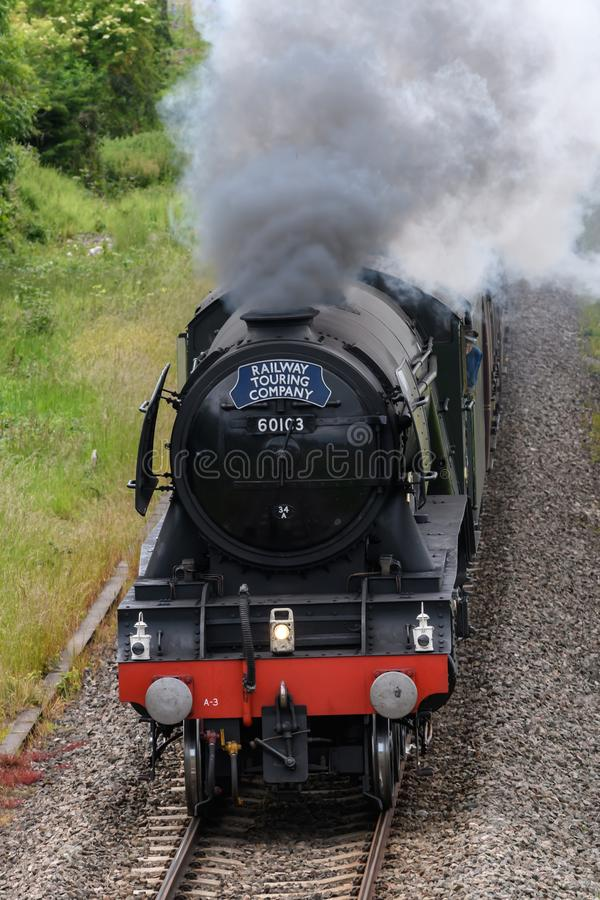 Vliegende Scotsman-Stoommotor royalty-vrije stock foto's