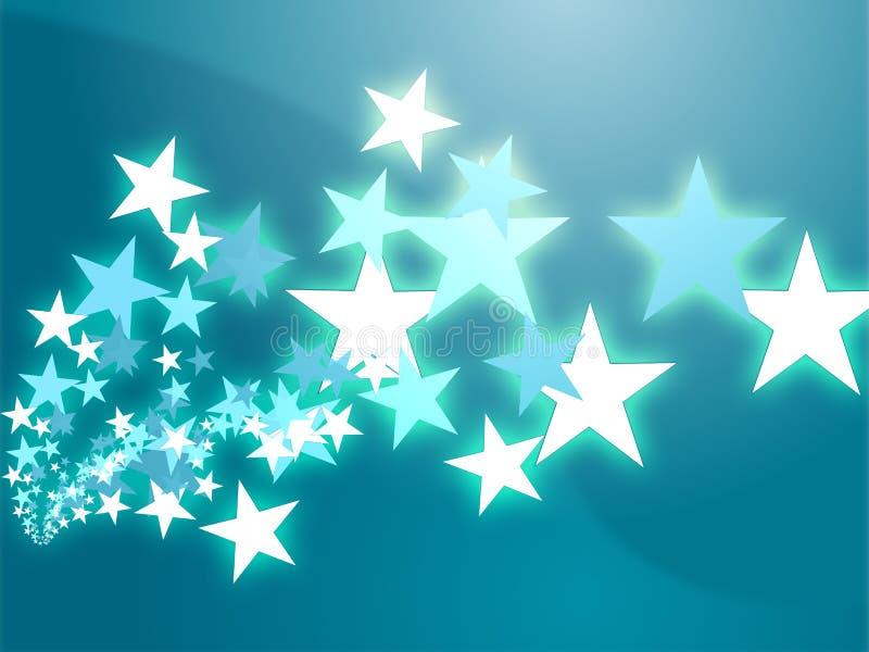 Vliegende sterrenillustratie stock illustratie