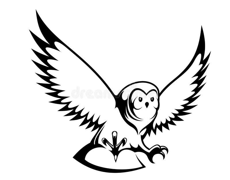 Vliegende uil royalty-vrije illustratie