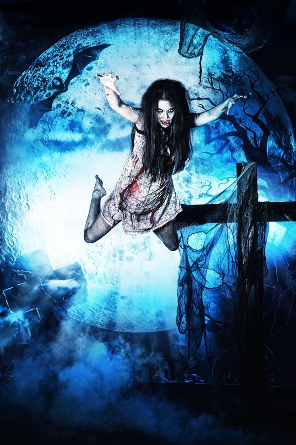 Vliegende vampier royalty-vrije stock afbeeldingen