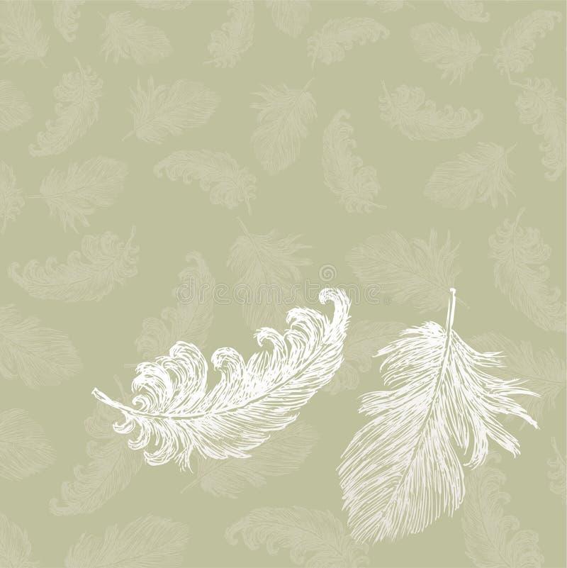 Vliegende veren stock illustratie