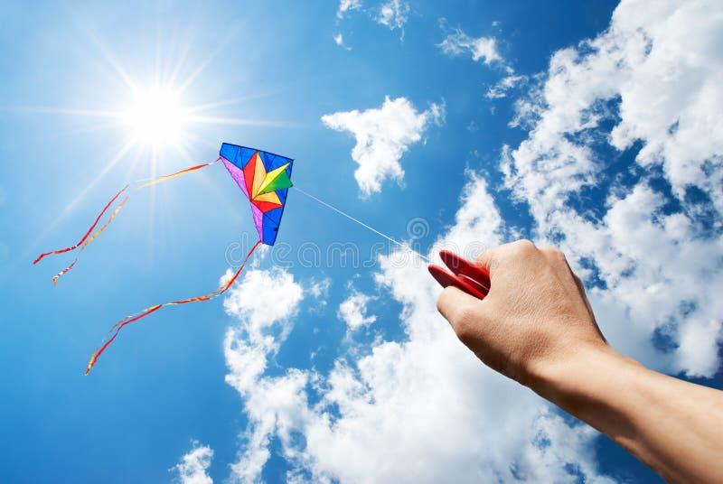 Vliegende vlieger stock afbeelding