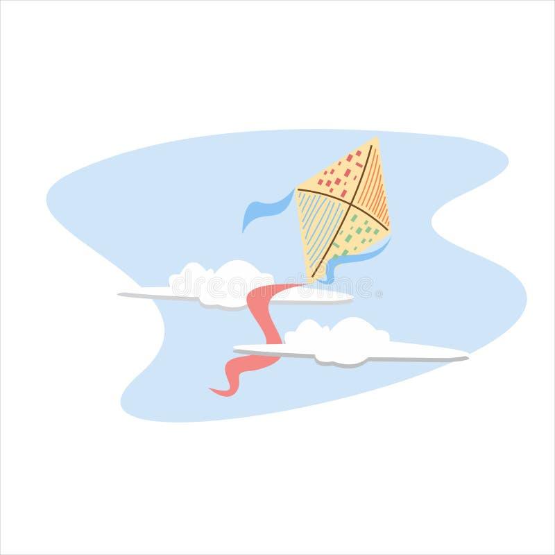Vliegende Vlieger Vectorillustratie royalty-vrije stock afbeelding